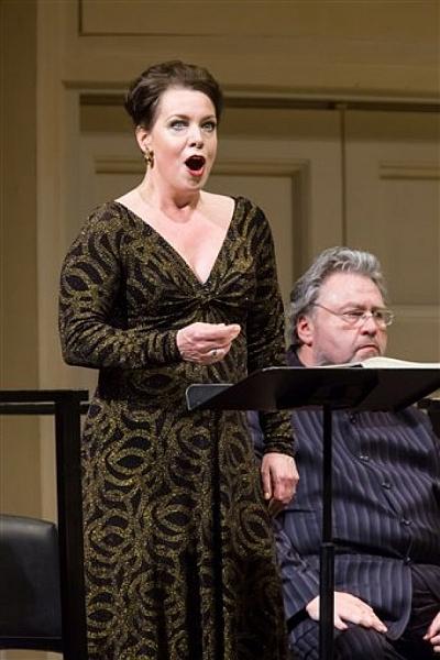 Salome:Nina Stemme,Rudolf Schasching Photo Courtesy Carnagie Hall/Chris Lee