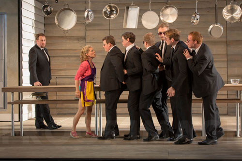Matthew Rose-Osmin-Susanna Andersson Blonde Garsington-Opera Chorus in Die Entfuhrung aus dem Serail Garsington Opera 2013 credit:Johan Persson