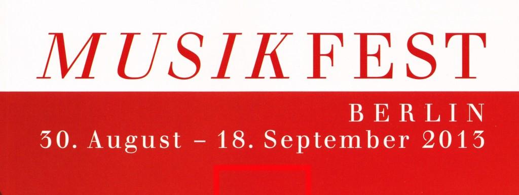 Musikfest Berlin 2013 logo