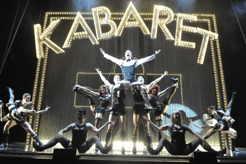 Will Young as Emcee and the Company in Cabaret Photographer Keith Pattison